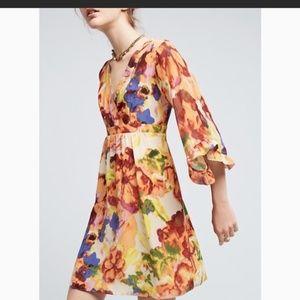 Anthropologie Maeve Deloria Floral Dress